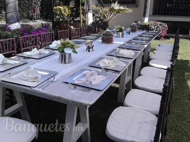 Banquetes y renta de mobiliario for Mobiliario y inmobiliario